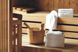 Sauna direkt im Haus