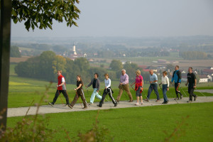 Nordic Walking in der Gruppe in Bad Griesbach