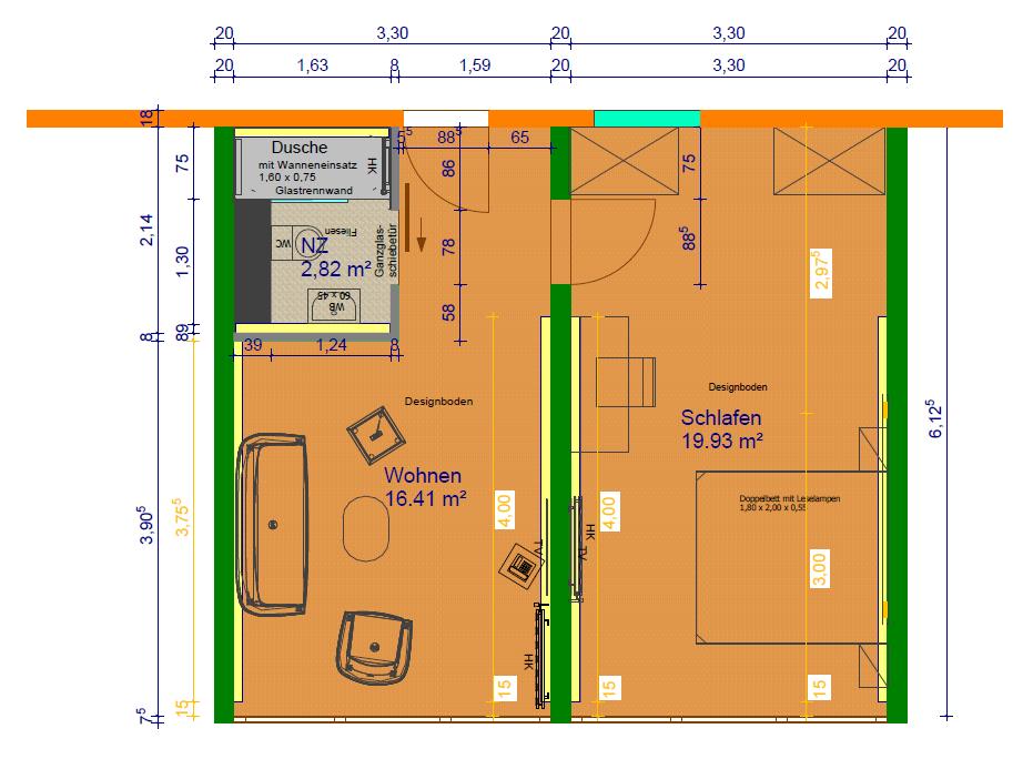 Grundriss Zimmerkategorie Rottalblick I