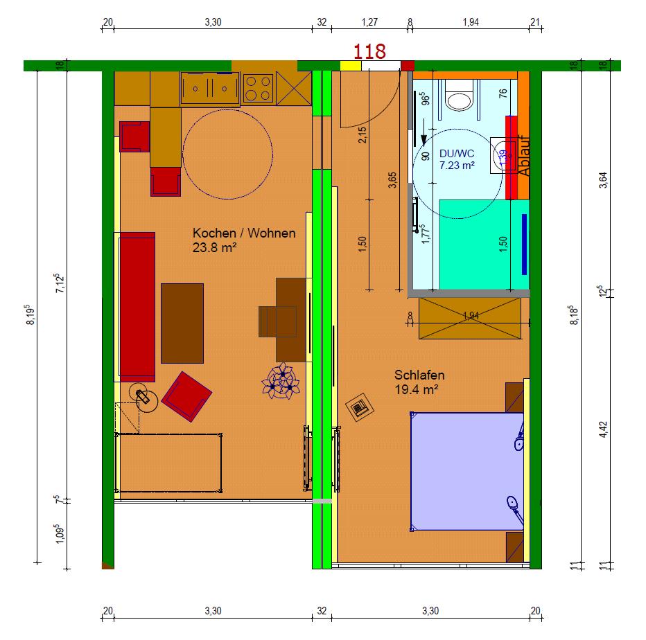 Grundriss Zimmerkategorie Rottalblick II